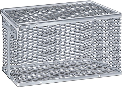 Scientific Labwares Aluminum Tilt Cover Test Tube Storage Basket, 11.5