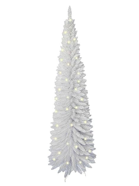the christmas workshop 110 led tip slim line christmas tree white - White Slim Christmas Tree