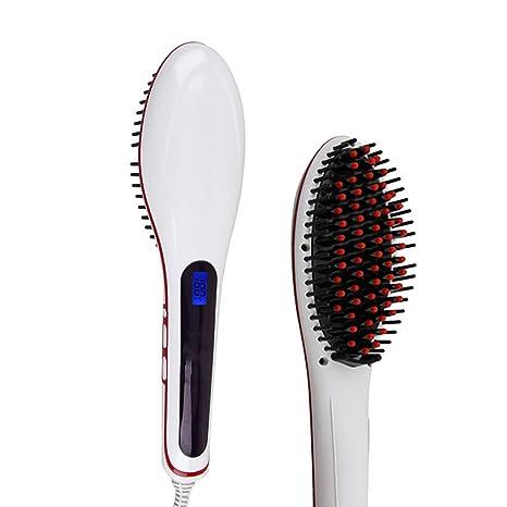 Cepillo de pelo eléctrico Ocathnon magia del alisado más rápido estilo peine Digital Anti plancha de