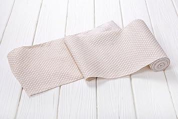 Abverkauf Angebot 1 Rolle Tischband Tischlaufer Baumwolle Beige