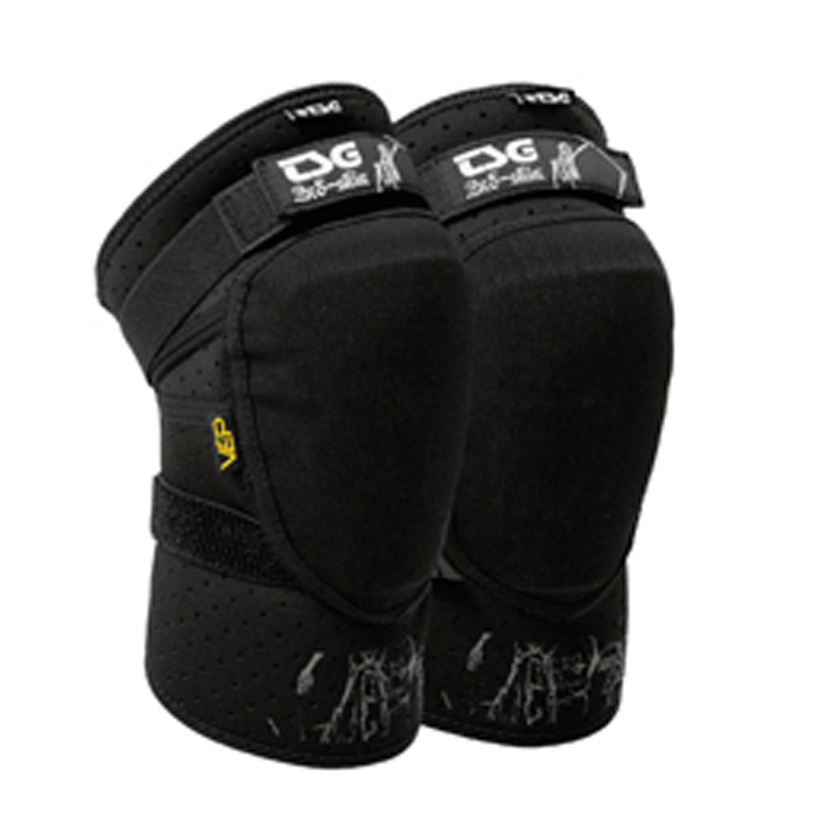 TSG Black Knee-Guard Slim
