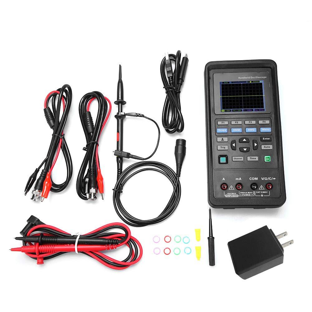 Hantek Oscilloscope 70Mhz 40Mhz Channel 2CH 250MSa Hantek2D42 s Multi Function Scilloscope Signal Source Multimeter AC100-240V