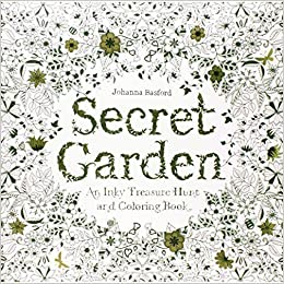 Adult Coloring Book Stress Relieving Patterns Secret Garden