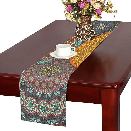 Amazon Com Mbvfd Table Setting Decor Square Round Mandala