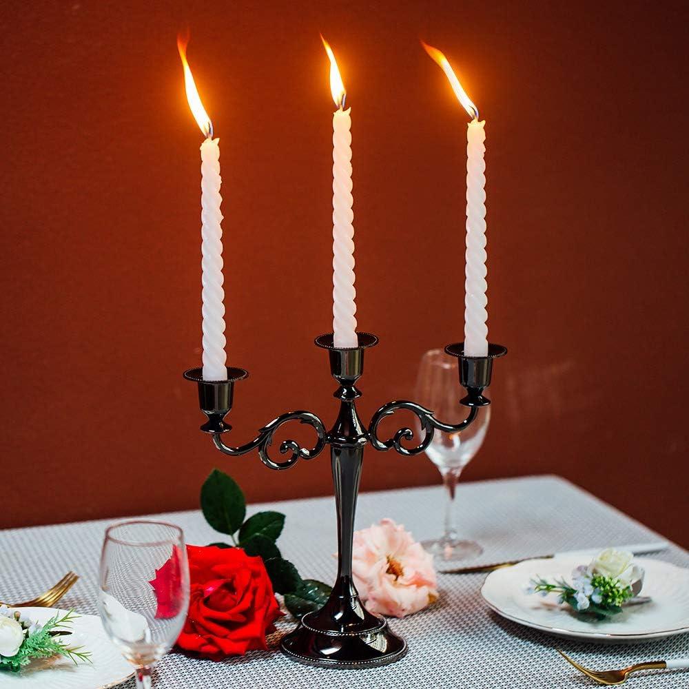 Sziqiqi 2 Piezas Candelero para Bodas Candelero De Aleaci/ón De Zinc Candelero para Mesas Cenas con Velas Decoraciones para Hotels Ornamentos Decorativos Bronce