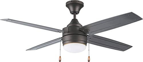 Oil Rubbed Bronze 52-in. LED 4-Blade Ceiling Fan Dimmable Indoor/Outdoor Light Kit