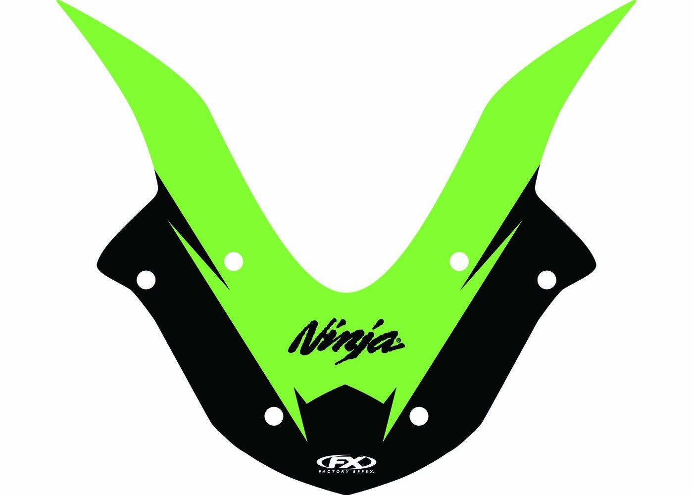 17-93124 EV-R Series Green Windscreen Graphic Kit Factory Effex