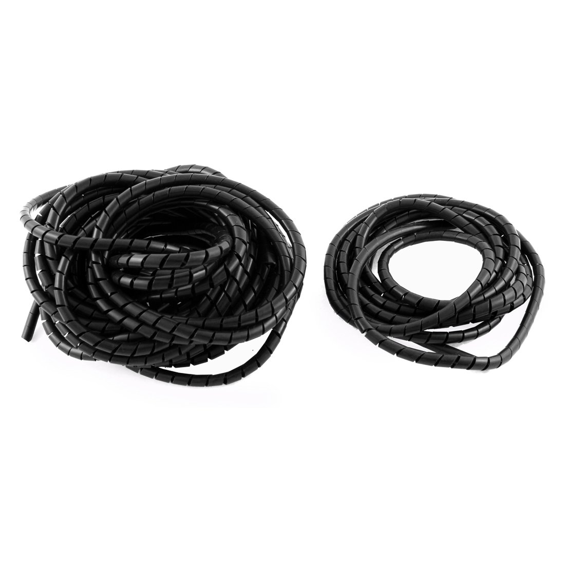 uxcell 10mm Flexible Spiral Tube Cable Wire Wrap Computer Manage Cord Black 10M Length