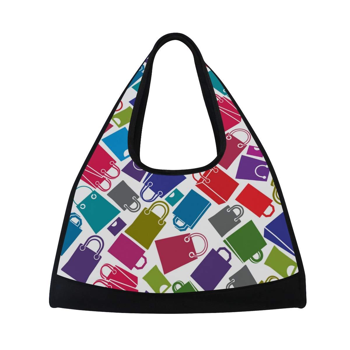 Gym Bag Sports Holdall Shopping Bags Pattern Canvas Shoulder Bag Overnight Travel Bag for Men and Women