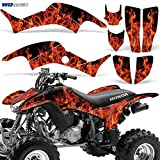 honda 400 ex stickers - Honda TRX400EX 1999-2007 Graphic Kit ATV Quad Decal Sticker TRX 400 EX FLAMES ORANGE