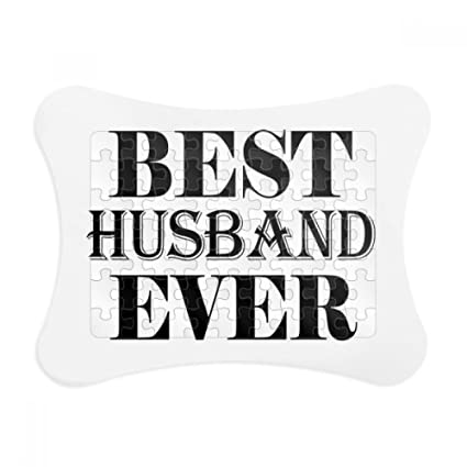 Amazon.com: Best Husband Ever Quote Paper Card Puzzle Frame Jigsaw ...