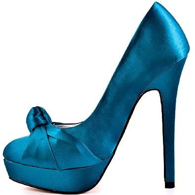 54cf0c4fe651af Justfab Gabby, Escarpins pour Femme Violet Fushsia - Bleu - Tuaquoise,