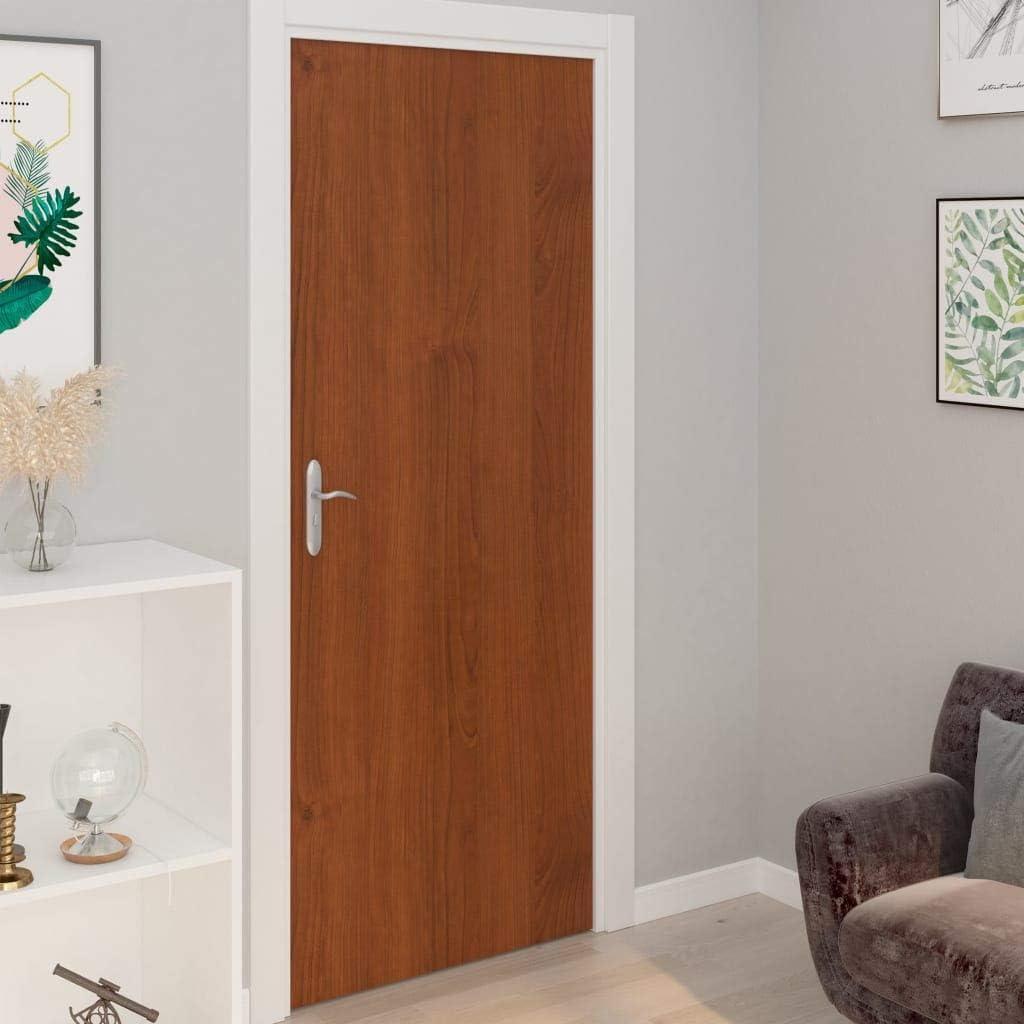 Benkeg Láminas Autoadhesivas Puertas 2 Uds PVC Color Roble Claro 210X90Cm, Láminas para Puertas Universales