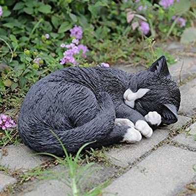 Hi-Line Gift Ltd. Cat Lying and Sleeping Garden Statue