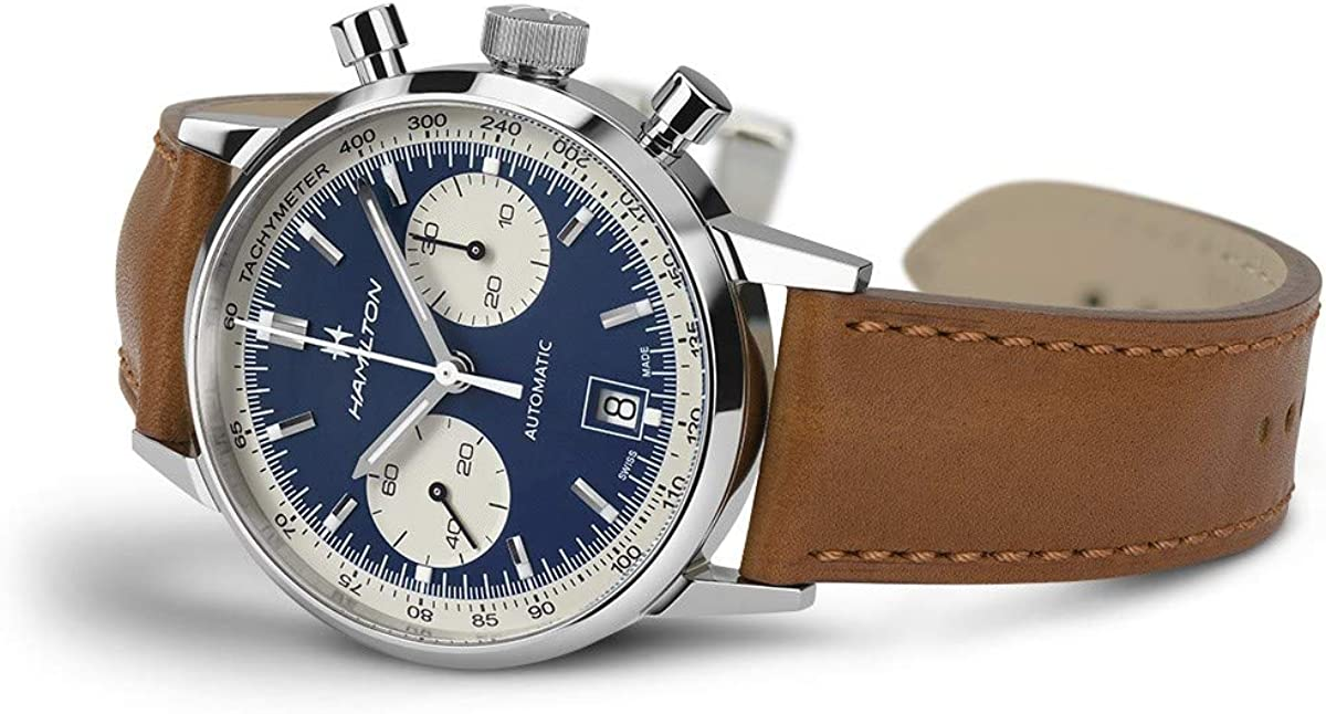Hamilton H38416541 - Reloj de pulsera para hombre, estilo clásico americano, intramático, con esfera de oso panda
