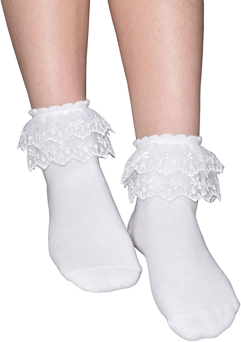 One Size Fits Most Womens Lace Socks