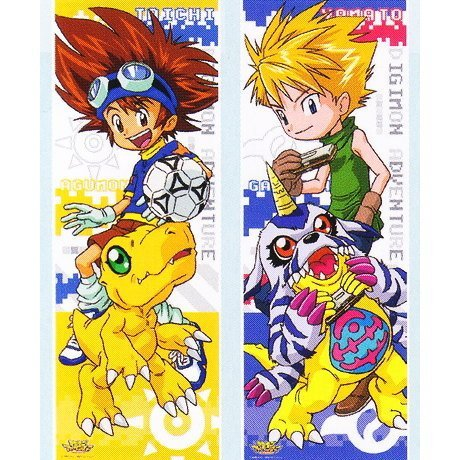 Digimon Adventure Series Character Poster Collection [1. Taichi Yagami & Agumon / Ishida Yamato & Gabumon] (single)