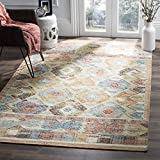 Cheap Safavieh Canyon Collection CNY115A Red and Blue Southwestern Bohemian Area Rug (4′ x 6′)