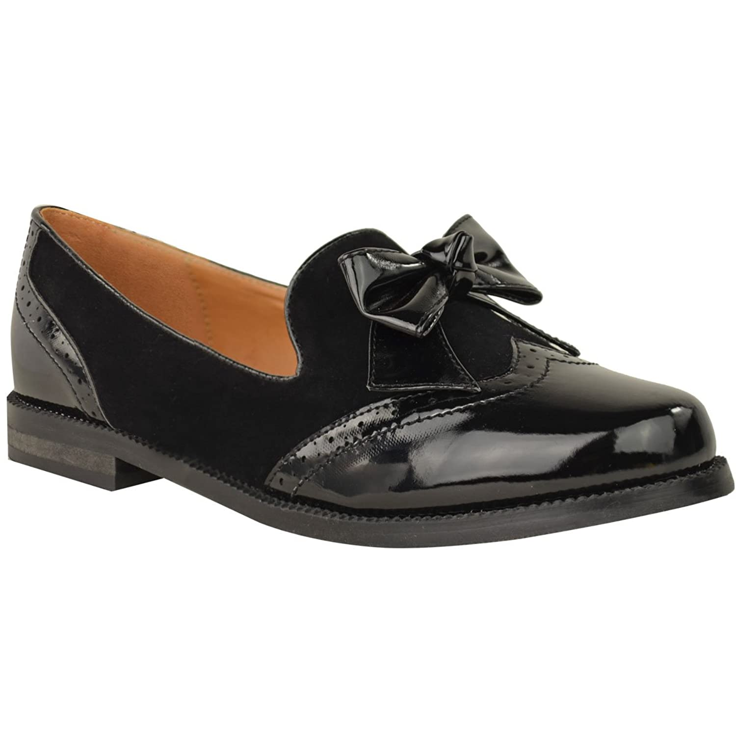Fashion Thirsty Womens Loafers Flats Bow Formal Work Office