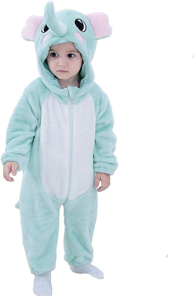 Pijama de elefante suave unisex para bebé, disfraz de mono: Amazon ...