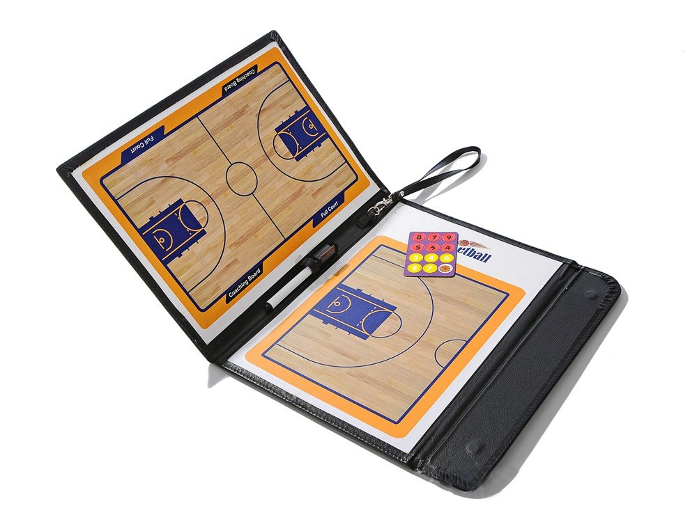 BAITER Foldable Coaching Board Basketball with Dry Erase and Marker Pen Coaches Clipboard Referee Tactics Kit Coach Tool
