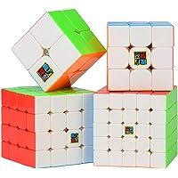 LXZ-TOY 5x5 4x4 3x3 2x2 Cubo de Velocidad Profesional Cubo Mágico Juego de Rompecabezas para Niños Adultos (Blanco)