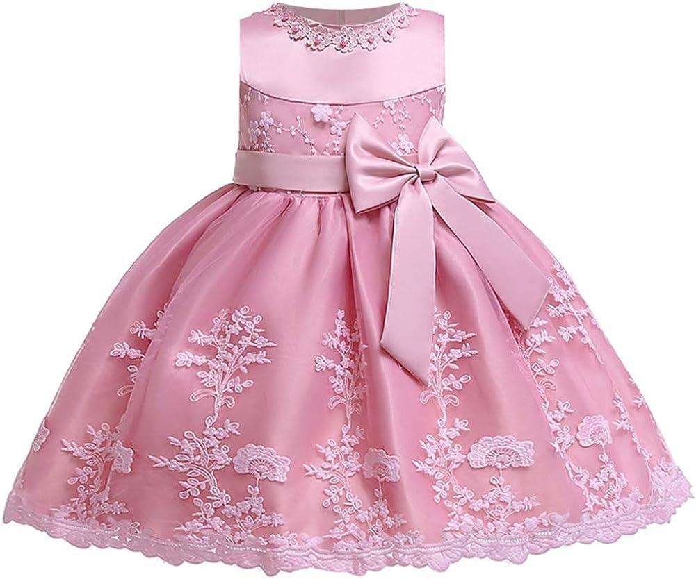 LZH Kleinkind Baby M/ädchen Kleid Geburtstag Bowknot Hochzeit Tutu Prinzessin Blume Spitzenkleid