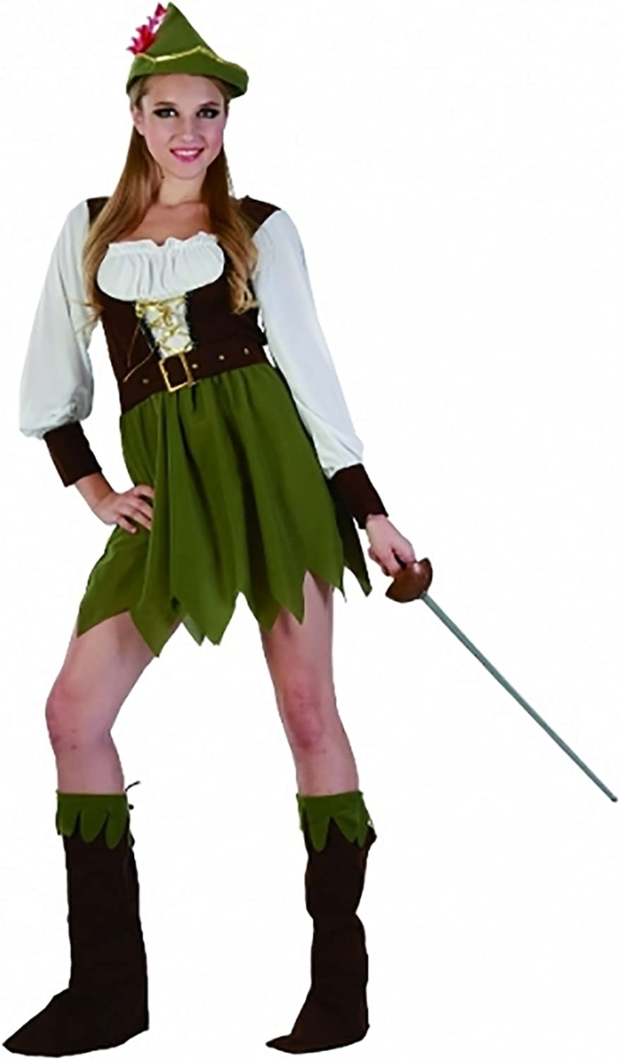 Adult Hunter Girl Fancy Costume Ladies Novelty Stag Do Hen Night ...