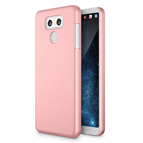 super popular 73a66 649bd LG G6 Case, Maxboost mSnap Thin Cases [Rose Gold] Extreme Smooth Surface  with Anti-Slip Matte Coating for Excellent Grip Hard Protective PC Covers  for ...