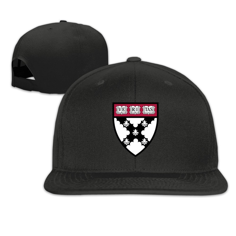 XCarmen okpk Harvard University Logo Plain Adjustable Snapback Hat Gorra de b/éisbol Unisex White Black