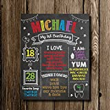 1st Birthday Chalkboard Poster Sign by Katie Doodle - CUSTOMIZABLE