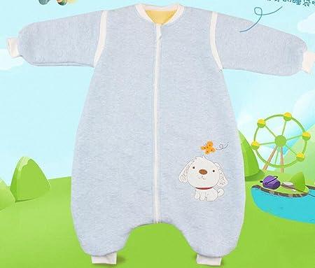 baby Schl/äfsack winter kinderSchlafsack,Hund mit F/ü/ßen Baumwolle Junge M/ädchen unisex ganzjahres Schlafanzug .Neugeborene pyjama//overall //Strampler. (S:80cm 0-16 Monat)Blau