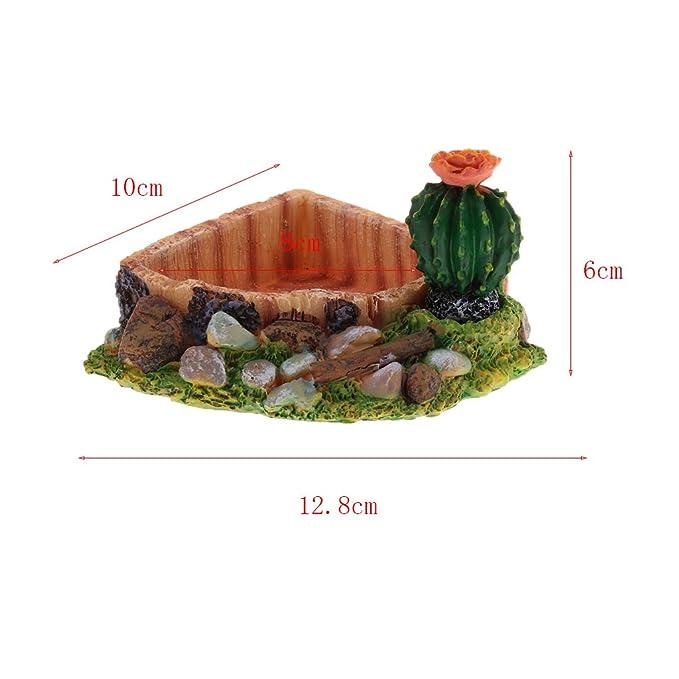 FLAMEER Plato de Agua Comida Tortuga Alimentador Accesorios Herramineta Fácil Instalación de Pecera Elegante - Triángulo: Amazon.es: Productos para mascotas
