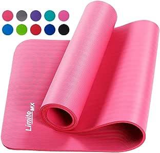 Límite-MX Tapete de Yoga Antideslizante con Material ecológico NBR Agarre de alto rendimiento, acolchado ultra denso para apoyo y estabilidad en yoga, pilates, gimnasio y cualquier condición física general.