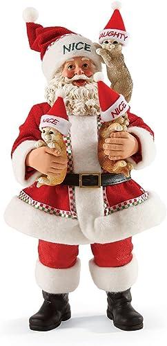 Department 56 Possible Dreams Define Naughty Kitties Santa, 10 inch