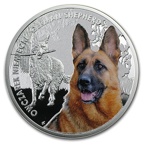2014 PL Niue Proof Silver Man's Best Friends Dogs German Shepherd Silver Brilliant Uncirculated