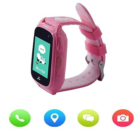ZEERKEER Reloj Inteligente Niños GPS Rastreador con Camara,Despertador, SOS,SIM Llamadas,