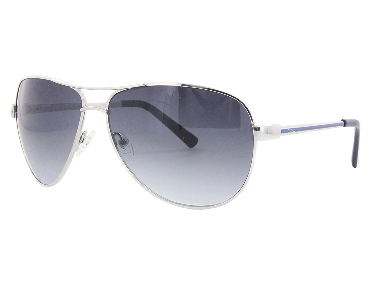 235888e3ef Guess GUF 106 72A Silver Grey Gradient Sunglasses  Amazon.co.uk  Clothing