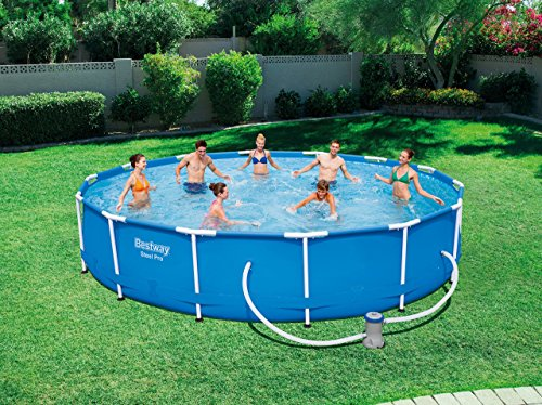 Bestway Steel Pro Piscina Desmontable Tubular, 427 x 84 cm: Amazon.es: Jardín