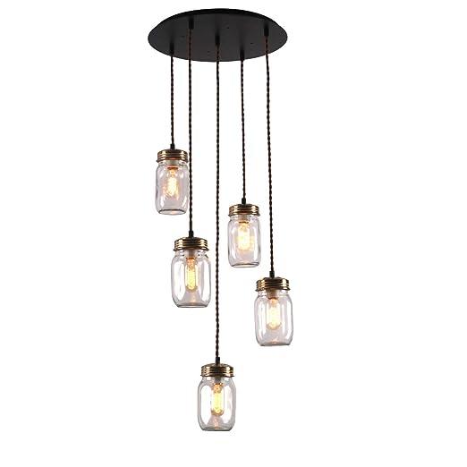 Amazon.com: Unitary Brand - Lámpara de techo con 5 ...