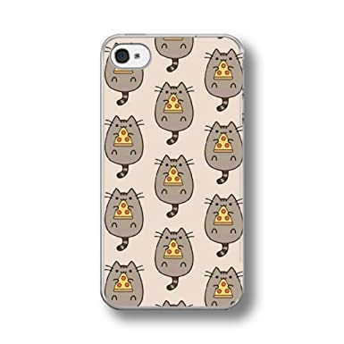 premium selection 07ae3 e8645 PUSHEEN PIZZA CATS PATTERN IPHONE Hard Case for 4/4s: Amazon.co.uk ...