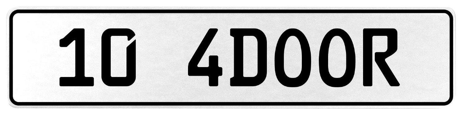 Vintage Parts 558072 10 4DOOR White Stamped Aluminum European License Plate