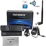 Bomach Freesat OVERBOX  M9S PRO Satélite Receptor DVB S2  1080P Full HDTV SAT Receiver Smart Top Box Decodificador Support Biss Key PVR EPG Youtube Youporn EU Enchufe Para España