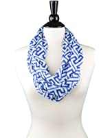 Cyber-Monday-Sale-2017, Holiday-Deals, Sales - Pop Fashion Womens Greek Key Pattern Infinity Scarf Wrap Scarf with White Zipper Pocket, Infinity Scarves