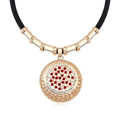 e0dc264a3ea5c Amazon.com: The Starry Night Gridding Red Diamond Accented Hollow ...