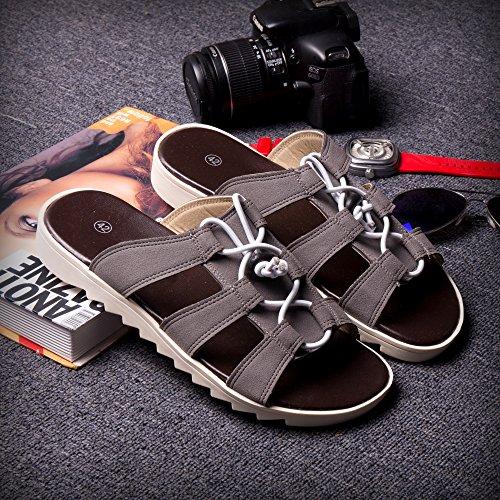 Xing Lin Sandalias De Hombre Tendencia De Verano Chanclas Sandalias Zapatillas Zapatillas Moda Zapatillas Nuevas Zapatillas Sandalias Zapatos Hombres 39 Gris