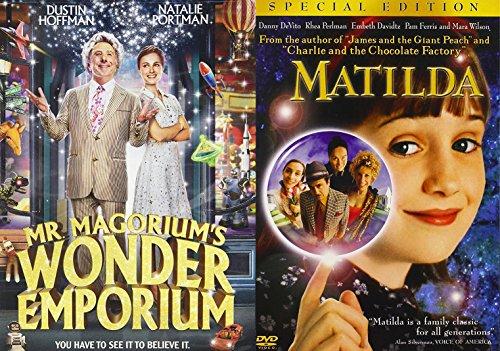 Matilda + Mr. Magorium's Wonder Emporium Magical DVD Set Classic Family Fantasy Movie Bundle Double Feature