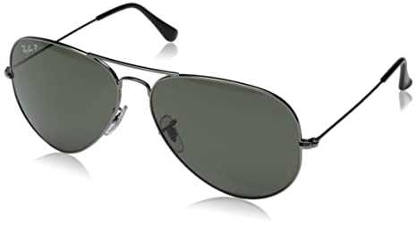 Ray-Ban Aviator Sunglasses (Gunmetal) (0RB3025) <span at amazon