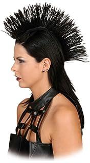 80er Jahr Rockerin Damenperucke Weiss Irokese Frisur Amazon De