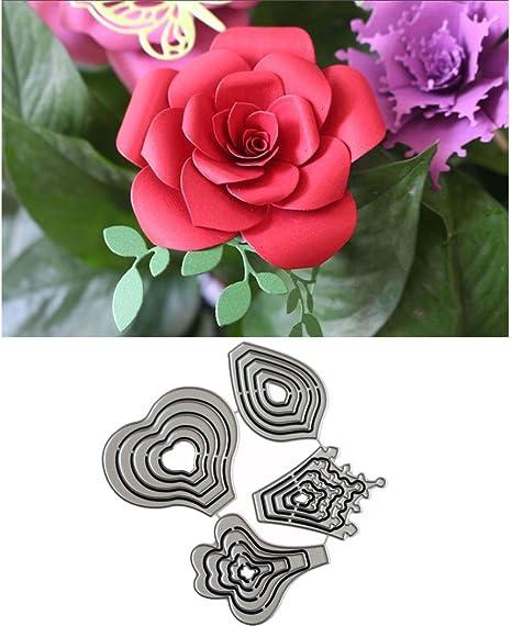 Cn /_ Mariposa Flor Metal Troquel para Bricolaje Manualidades Álbum Proyecto Grea